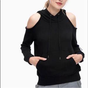 Splendid soft cotton cold shoulder hoodie size XS